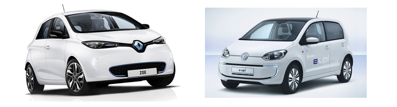 renault zo vs volkswagen e up le test comparatif. Black Bedroom Furniture Sets. Home Design Ideas